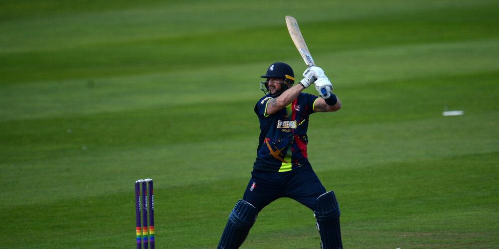 Darren Stevens bats for Kent against Somerset in the T20 Blast