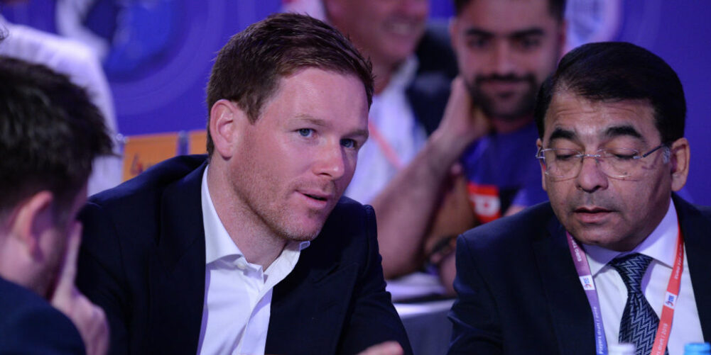 Eoin Morgan in appearance at the Euro T20 Slam Draft
