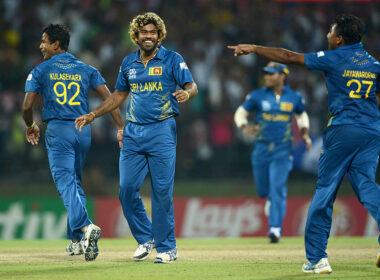 Nuwan Kulasekara and Lasith Malinga during Sri Lanka's ultimately successful 2014 World T20 campaign