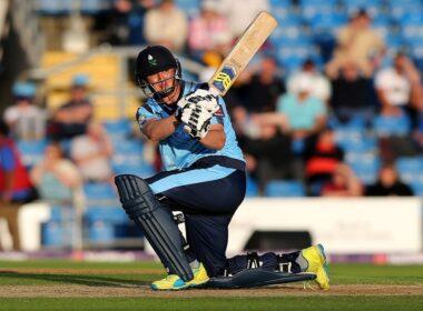 Tom Kohler-Cadmore in action for Yorkshire Vikings during the 2017 T20 Blast